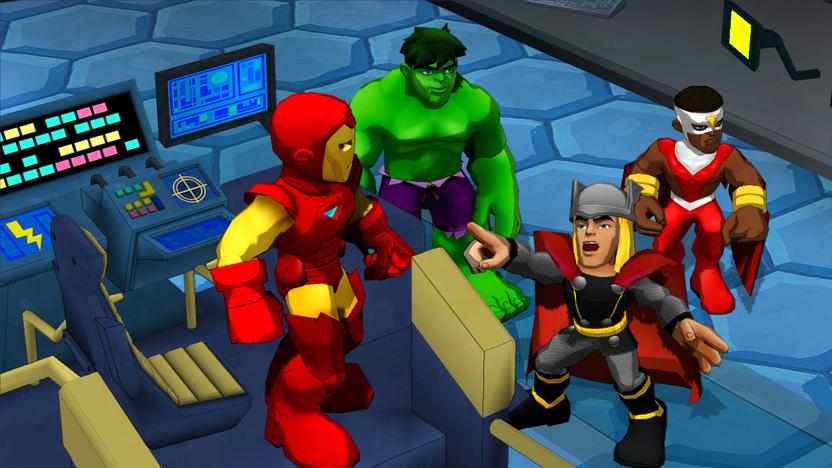 Al jugar obtienes puntos que puedes canjear por actualizaciones del poder de cada héroe o cambios de vestuario
