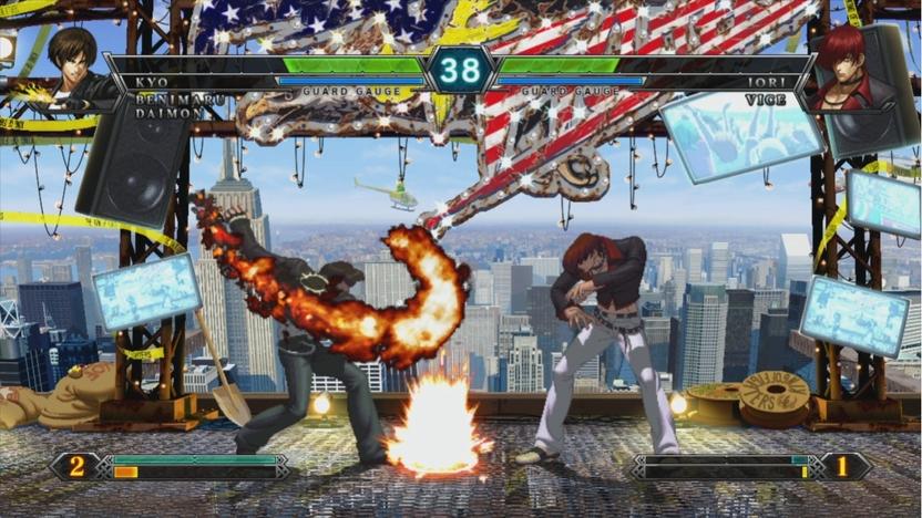 Regresan las rivalidades clásicas. Iori no ha recuperado su flama, pero aún así tiene suficiente habilidad para seguir peleando contra Kyo