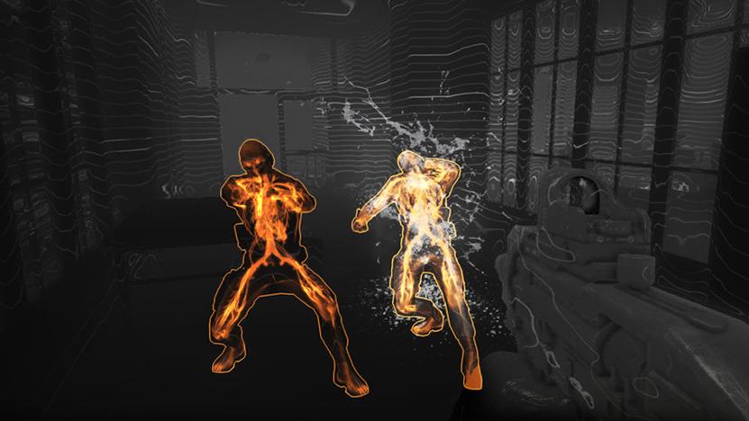 En el modo Dart Overlay, los enemigos contrastan con el escenario para facilitar su ubicación; incluso podrás detectarlos detrás de las paredes una vez que hayas tenido contacto visual previo
