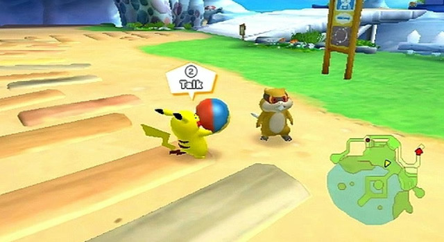 La pelota es uno de los contados artículos que, al encontrarlo, se le puede entregar a otro pokémon y así cumplir con un objetivo