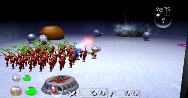 El juego se basa en un ciclo de día y noche que dura 15 minutos, si dejas un Pikmin fuera de tu nave al atardecer, adorables criaturas nocturnas lo devorarán, restándolo de tu batallón