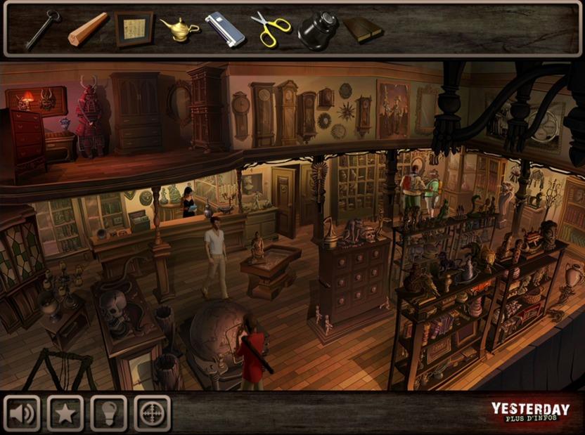 La tienda de antigüedades es uno de los escenarios con más objetos interesantes y oportunidades para interactuar con otros personajes