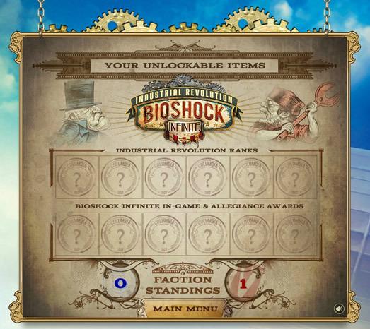 Algunos de los incentivos que obtengas serán complementos para usar en BioShock Infinite, imposibles de conseguir de otra forma