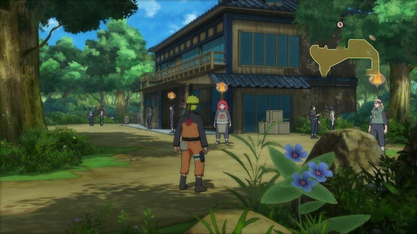 Entre misiones tendrás oportunidad de explorar la Aldea Oculta de la Hoja y hablar con los personajes que dieron vida a la serie de animación, pero no esperes más de una línea de diálogo por personaje