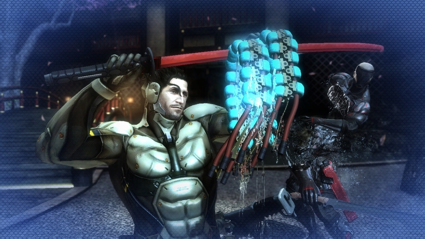 Sam no puede maniobrar como Raiden cuando corre, pero es capaz de saltar más alto e impulsarse con las paredes para atacar