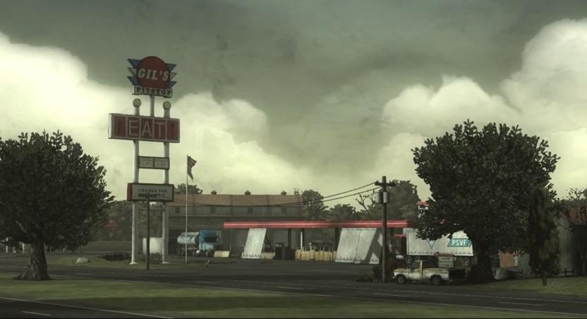 Gil's Pitstop, una estación de gas abandonada, es el único lugar que vincula indirectamente a los protagonistas de 400 Days