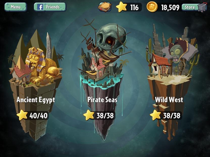 Las épocas disponibles, hasta el momento, son Antiguo Egipto, Mar Pirata y Salvaje Oeste. La silueta de un mundo futurista se asoma, al presentar un letrero de Próximamente