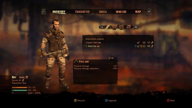 El sistema de personalización de armas, vestimentas y personaje es vasto, pero la interfaz de usuario es compleja