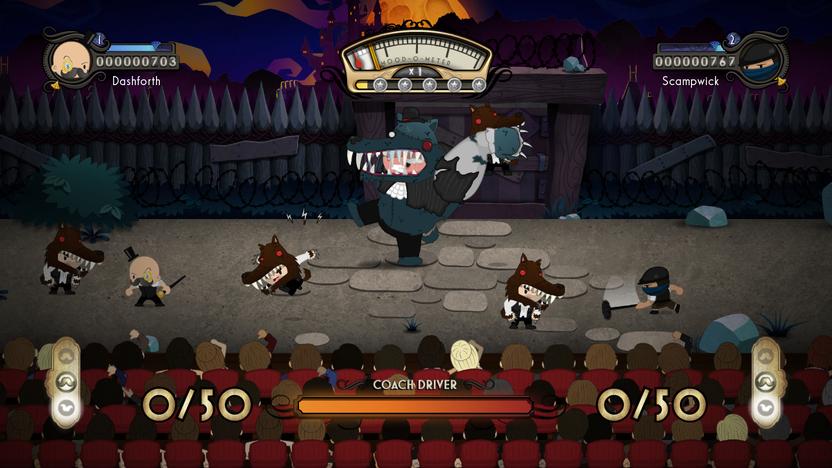Los escenarios y los enemigos te sumergirán en el supuesto de estar viendo una obra de teatro