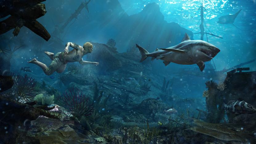 La nueva mecánica de buceo es interesante, especialmente cuando 1 o varios tiburones acechan desde las profundidades