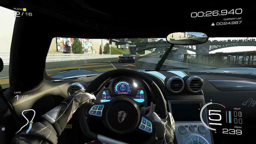 La vista interior de los autos es la mejor forma de experimentar los detalles visuales del juego