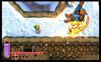 El título hace muy buen uso del efecto 3D de la portátil de Nintendo