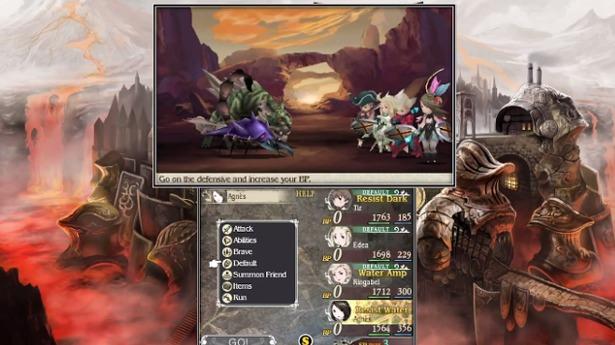El aspecto estratégico y el sistema de batalla son lo más destacado de Bravely Default