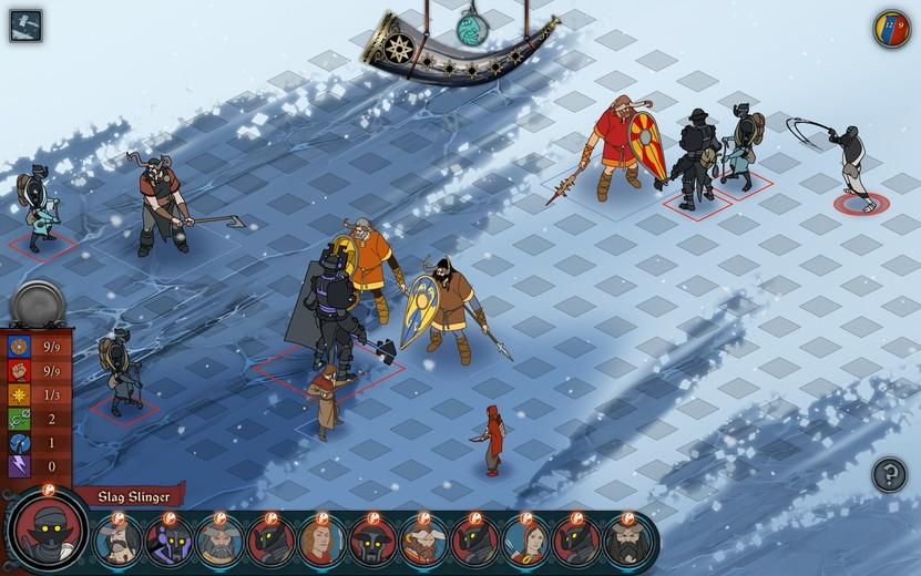 El principal atractivo y reto dentro de The Banner Saga se encontrará en el combate