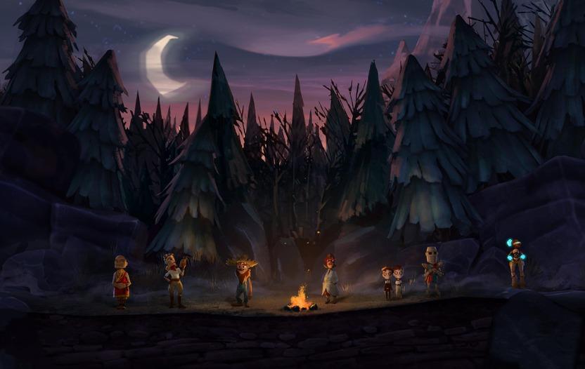 Los siete personajes de The Cave