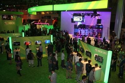 Este año Xbox tuvo un booth más grande, aunque con menos juegos