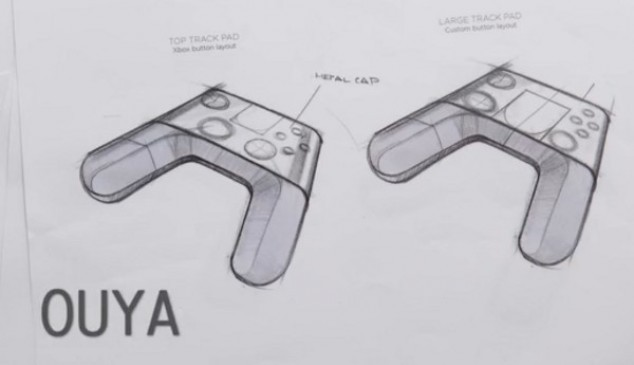 El control de OUYA se presume como el Stradivarius de los mandos, gracias a un diseño estilizado y la presencia de una superficie táctil para juegos de móvil, aunque podría carecer de giroscopio, rumble y acelerómetro, además de que la ausencia de retroalimentación visual podría hacer que lo táctil no sea tan certero como en una pantalla de smartphone