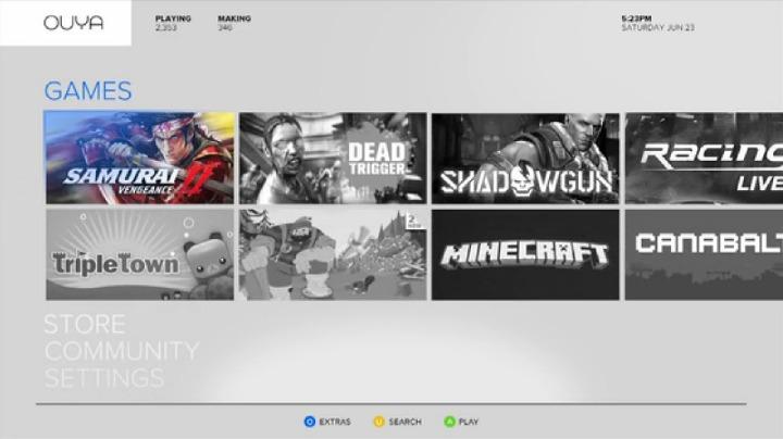 Boxer8 hizo una encuesta de los juegos que a la comunidad le gustaría jugar en OUYA, entre los que se cuentan Assassin's Creed, Mass Effect y Call of Duty; pero su tecnología no lo permitiría