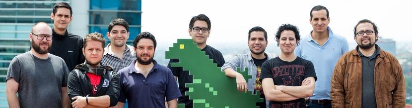 El equipo de LevelUp que asistirá a E3. De izquierda a derecha: Guaripolo, Gargamel, Pablo, Daniel, Daniel Dehesa, Angielo, Rodrigo, urovoros, Mefisto y Alonso