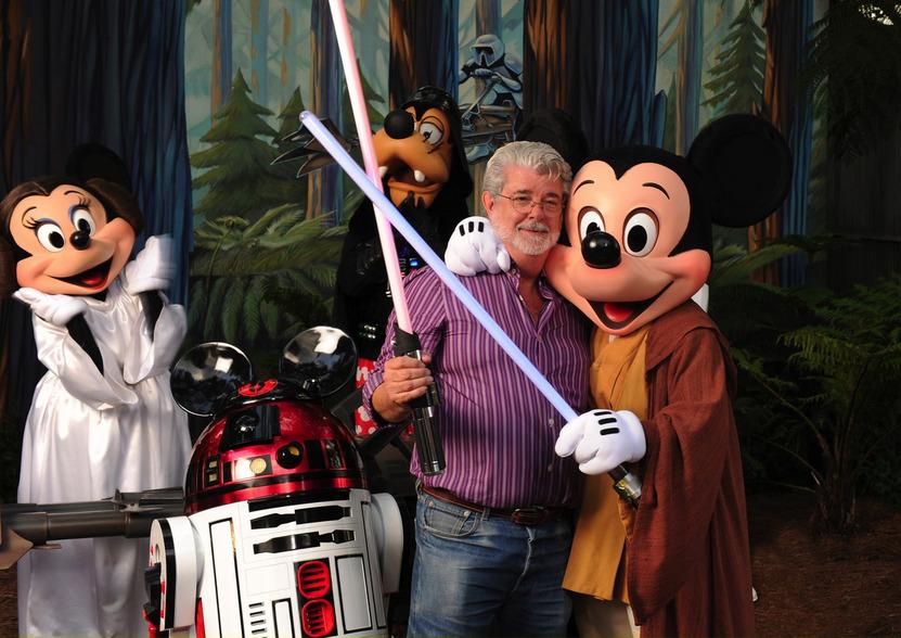 La evidencia de que esta unión de George Lucas con Disney era inminente