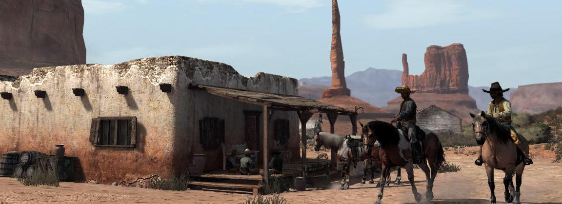 Típica escena mexicana en los videojuegos (Red Dead Redemption)