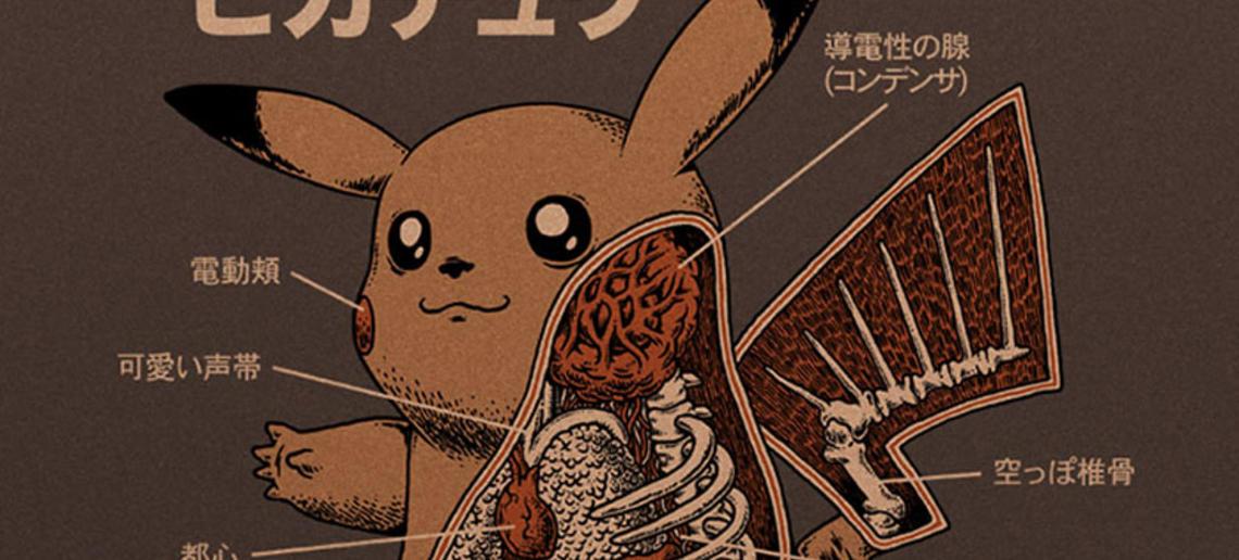 Artista muestra como sería la anatomía interna de los Pokémon - Tarreo