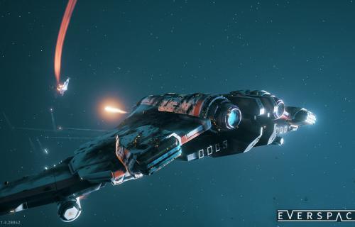 La nave recibe daño y lo refleja visualmente