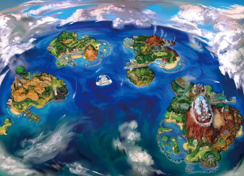 Alola está compuesta por cuatro islas