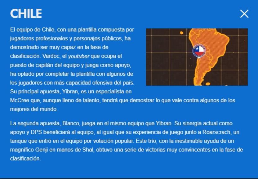 Pequeña biografía de el equipo Chileno