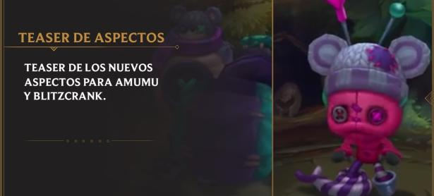 League of Legends: Nuevas Skins de Blitzcrank  y Amumu llegan al PBE