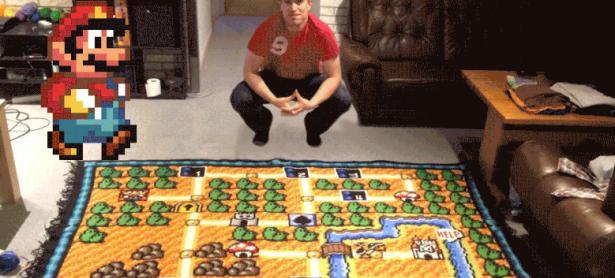 Alfombra en crochet de <em>Super Mario Bros. 3</em> tomó seis años en hacerse