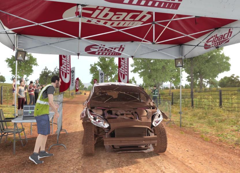 En algunas ocasiones tu auto puede terminar así una etapa de rally y continuar la carrera sin reparaciones