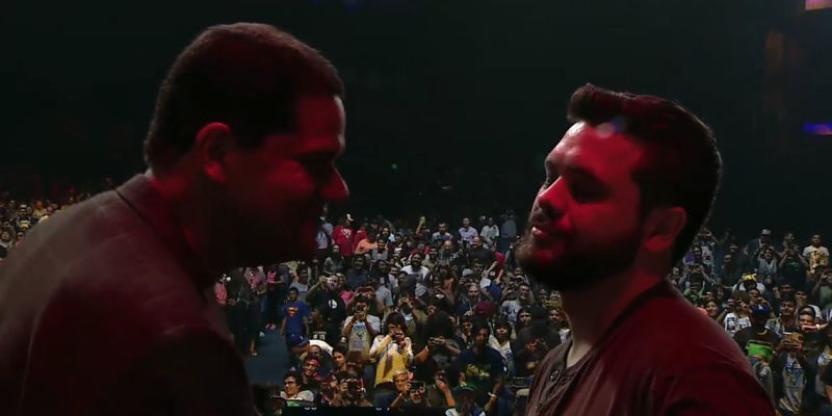Reggie y HungryBox durante el Smash Invitational del 2015