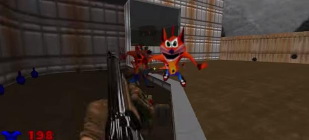 WOAH! <em>Crash Bandicoot</em> invade el mundo de <em>DOOM</em> con este mod