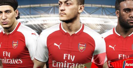 Mejorarán los rostros de los jugadores del Arsenal en <em>PES 2018</em>