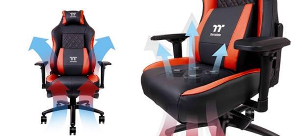 Thermaltake pondrá a la venta la primera silla gamer con ventilador del mundo