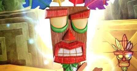 Adorna tu cuarto con esta increíble estatua de Aku Aku de <em>Crash Bandicoot</em>