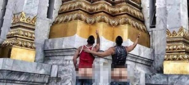 Dúo fue arrestado por sacarse fotos con el trasero al aire en Tailanda