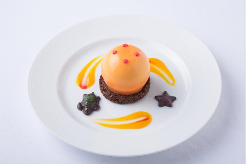 Esfera del Dragón de Mousse de Naranja y Chocolate