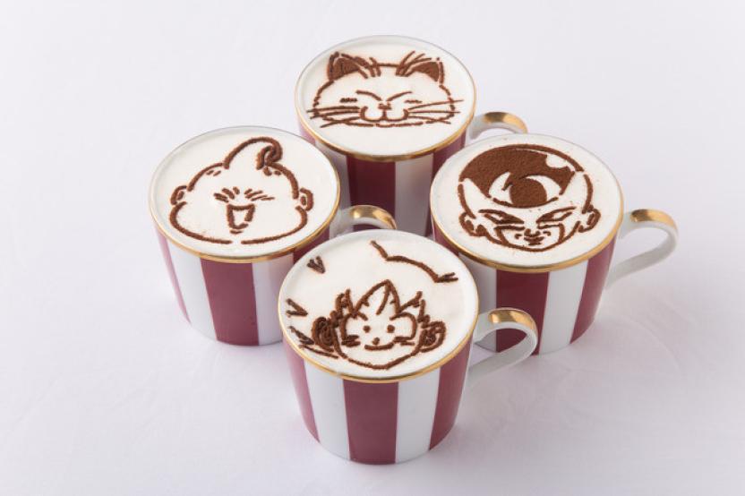 Cappuccino con arte de los personajes