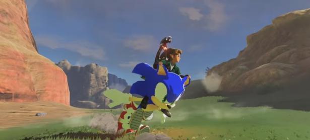 Modders añaden a <em>Sonic</em> como la motocicleta de Link en <em>Breath of the Wild</em>