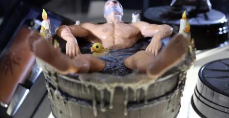 Pronto podrás comprar tu propia figura de Geralt of Rivia bañándose