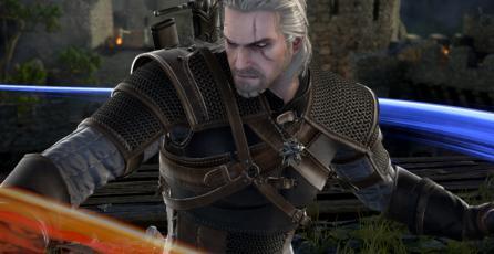 Así se ve la portada de <em>Soulcalibur VI </em>con Geralt de Rivia
