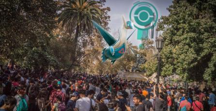 <em>Pokémon Go</em>: Santiaguinos se reunieron en masa para capturar a Latios