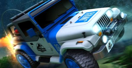 Pronto podrás usar el Jeep de <em>Jurassic World</em> en <em>Rocket League</em>
