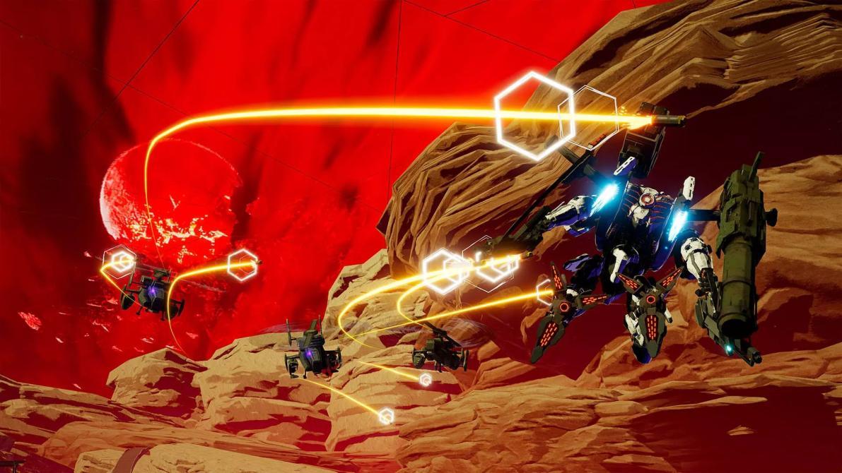 Checa las primeras capturas de <em>Daemon X Machina</em>