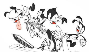 Dibujante de la nueva serie de <em>Animaniacs</em> por Hulu muestra un bosquejo