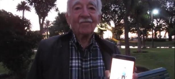 Este es el abuelito chileno que con 85 años juega Pokémon GO