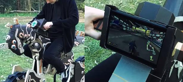 Fanático replica la moto de Zelda BOTW en cartón y la hace compatible con Nintendo LABO