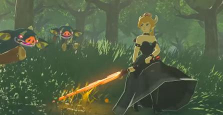Un Mod de Breath of the Wild reemplaza a Link por Bowsette
